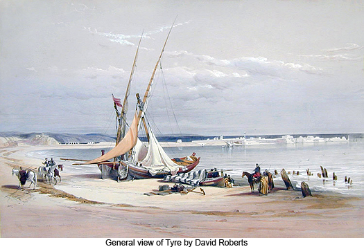 General view of Tyre by David Roberts