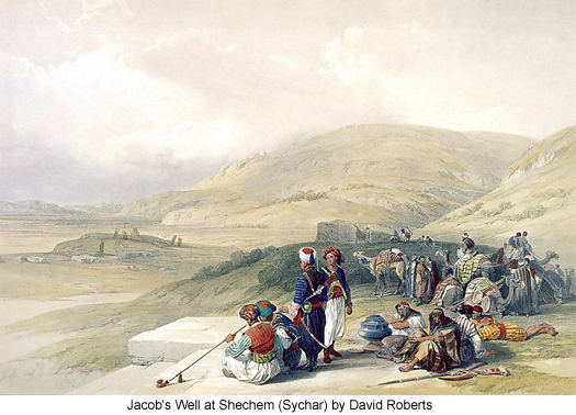 Jacob's Well at Shechem (Sychar) by David Roberts