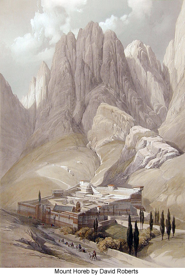 Mount Horeb by David Roberts