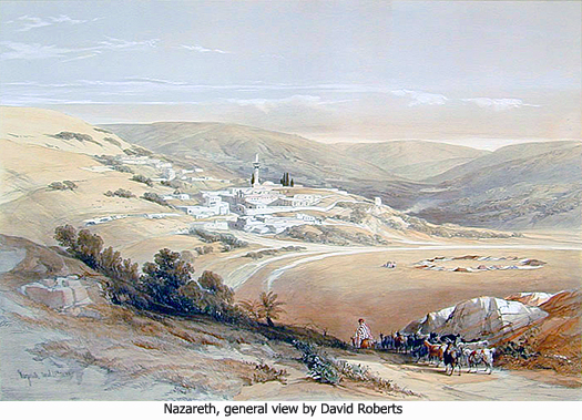 Nazareth, general view by David Roberts