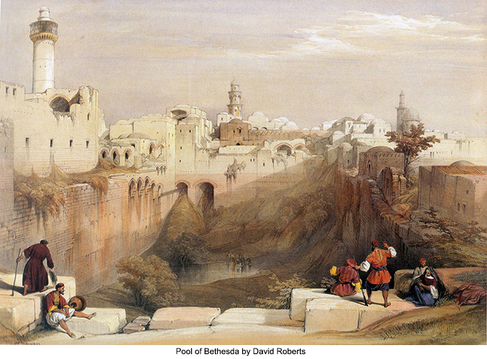 Pool of Bethesda by David Roberts