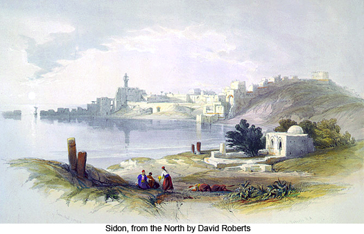Sidon, from the North by David Roberts