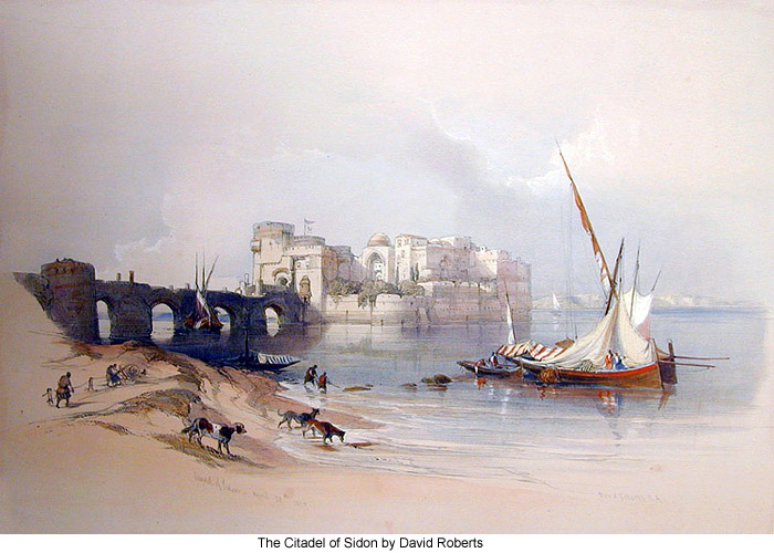 The Citadel of Sidon by David Roberts