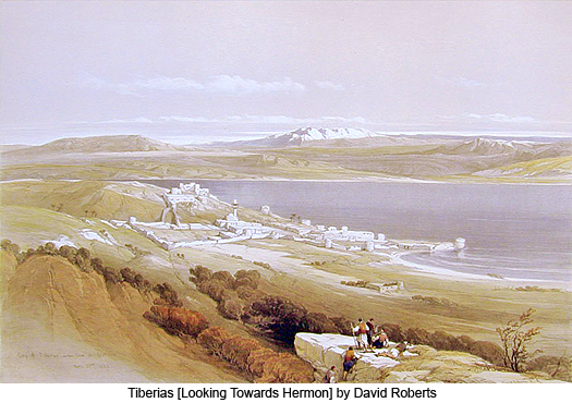 Tiberias (looking towards Hermon) by David Roberts