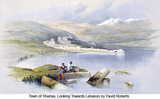 Town of Tiberias, Looking Towards Lebanon by David Roberts
