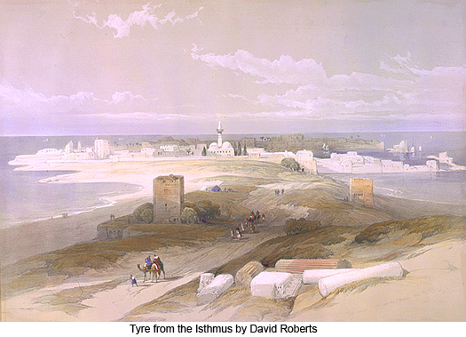 Tyre from the Isthmus by David Roberts