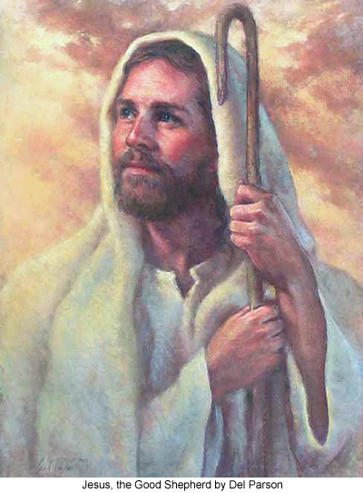 Jesus, The Good Shepherd by Del Parson