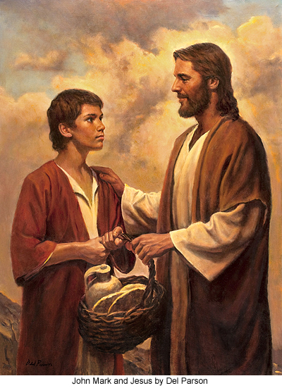 Jesus and John Mark by Del Parson