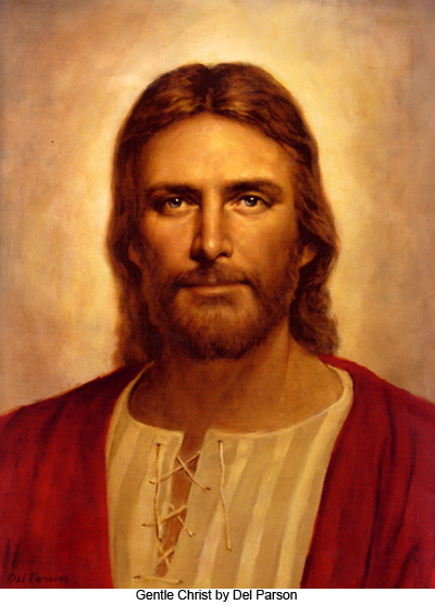 The Gentle Christ by Del Parson