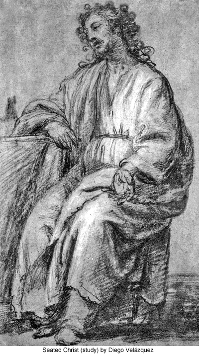 Seated Christ (study) by Diego Velázquez