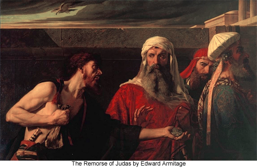 The Remorse of Judas by Edward Armitage