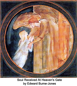 Soul Received at Heaven's Gate by Edward Burne-Jones