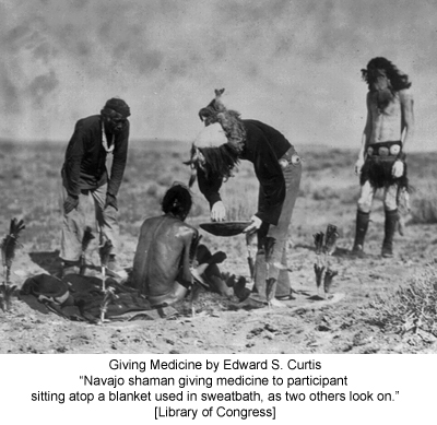 Giving Medicine by Edward S. Curtis