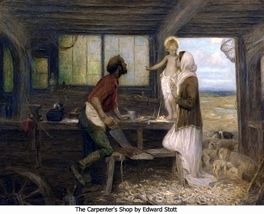 The Carpenters Shop by Edward Stott