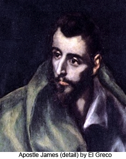 Apostle James (detail) by El Greco