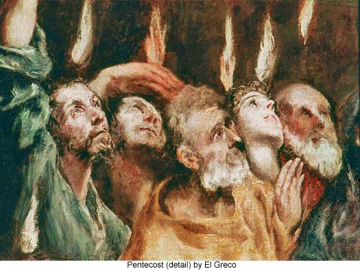 Pentecost (detail) by El Greco