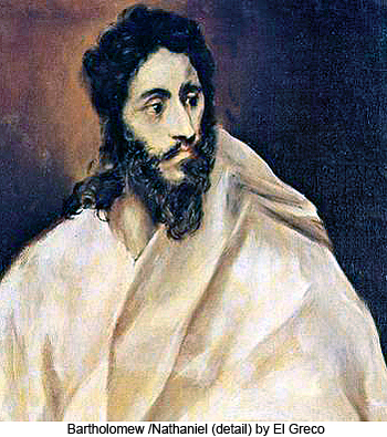 Bartholomew/Nathaniel (detail) by El Greco