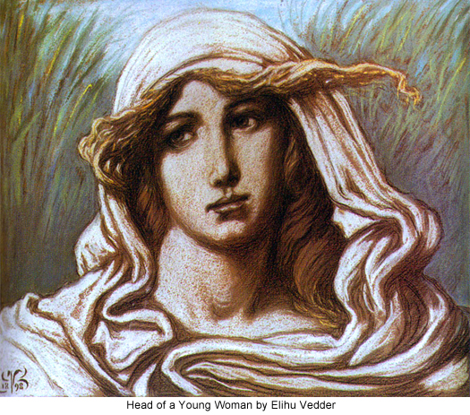 Head of a Young Woman by Elihu Vedder