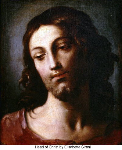 Head of Christ byh Elisabetta Sirani