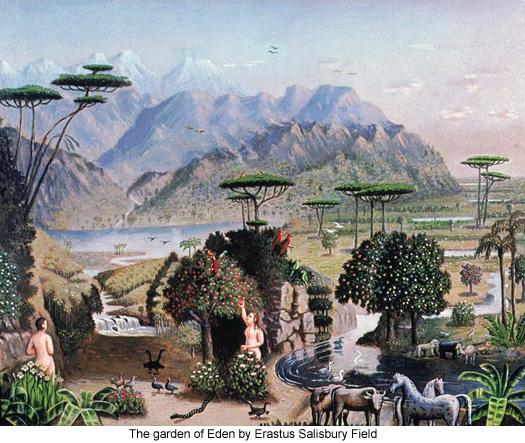 The garden of Eden by Erastus Salisbury Field
