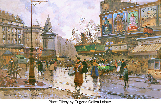 Place Clichy by Eugene Galien Laloue