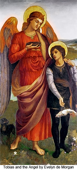 Tobias and the Angel by Evelyn de Morgan