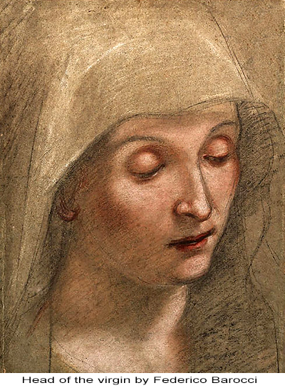 Head of the virgin by Federico Barocci