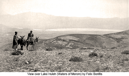 view over Lake Huleh (Waters of Merom) by Felix Bonfils