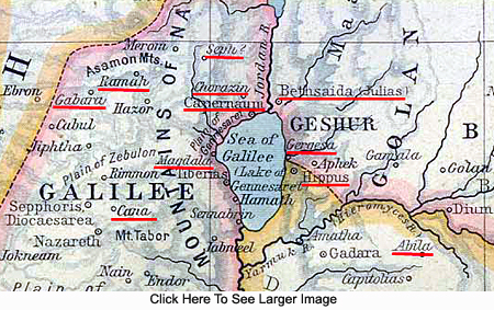 Map Showing the Area of the First Work of the Twelve Apostles