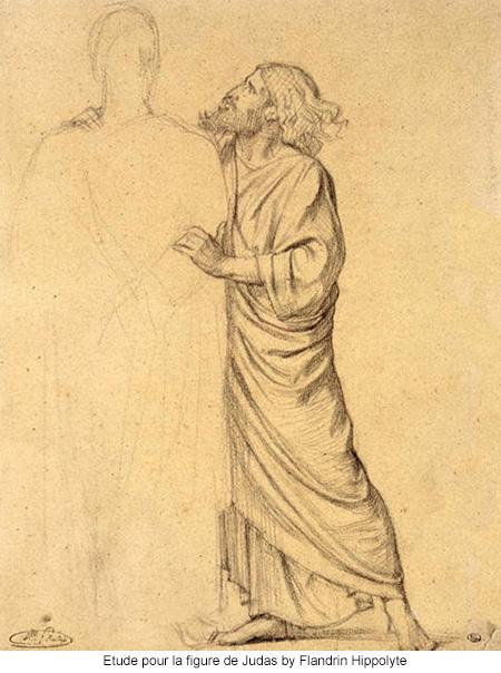 Etude pour la figure de Judas by Flandrin Hippolyte
