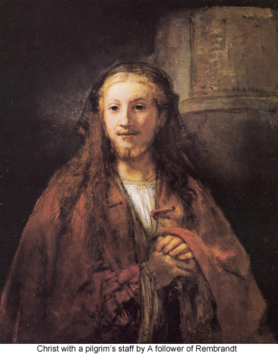 Christ with a Pilgrim's Staff by a Follower of Rembrandt