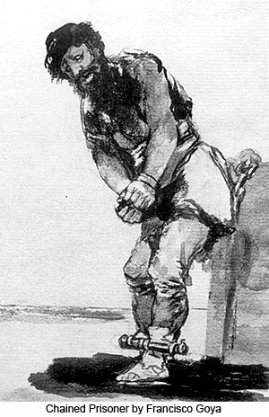 Chained Prisoner by Francisco Goya