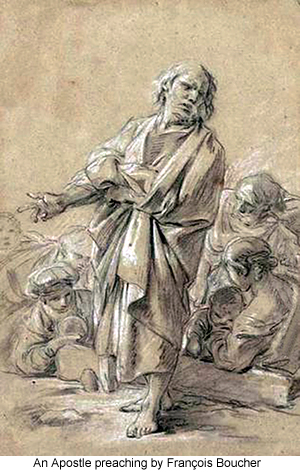 An Apostle preaching by François Boucher