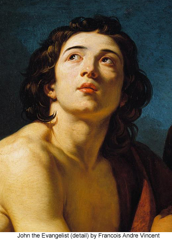 John the Evangelist (detail) by Francois Andre Vincent