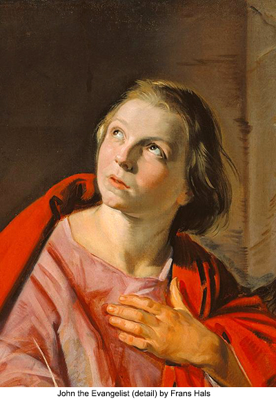 John the Evangelist (detail) by Frans Hals