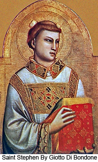 Saint Stephen by Giotto Di Bondone