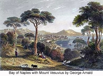 Bay of Naples with Mount Vesuvius by George Arnald