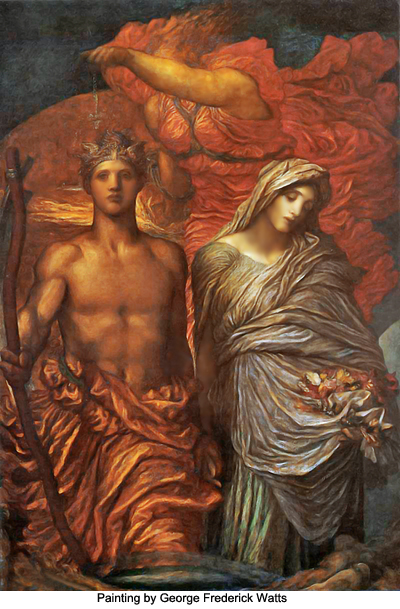 Time, Death, Judgement by George Frederick Watts