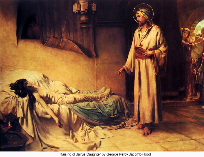 Raising of Jairus Daughter by George Percy Jacomb-Hood