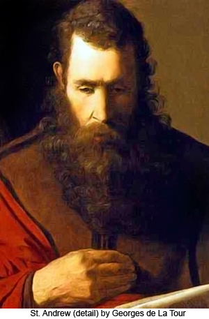 St. Andrew (detail) by Georges de La Tour