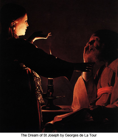 The Dream of St Joseph by Georges de La Tour