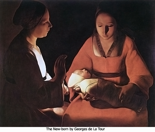 The New-born by Georges de La Tour