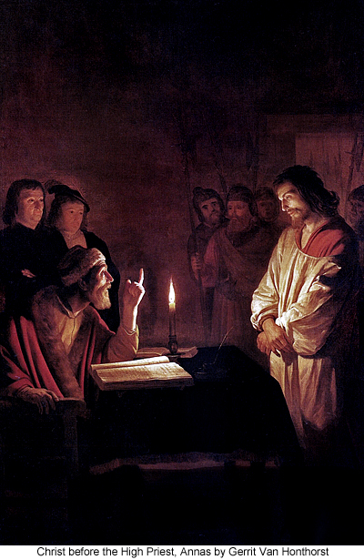 Christ before the High Priest, Annas by Gerrit Van Honthorst