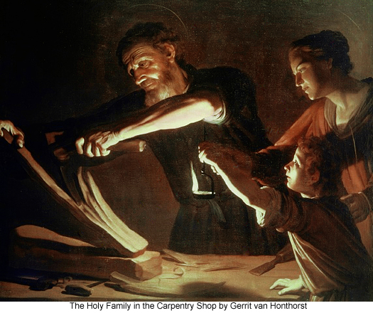 The Holy Family in the Carpentry Shop by Gerrit van Honthorst