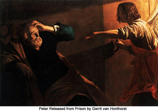 Peter Released from Prison by Gerrit van Honthorst