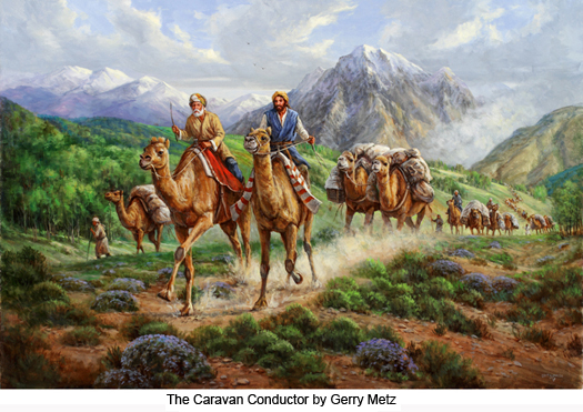 "The caravan conductor by Garry Metz"" title="
