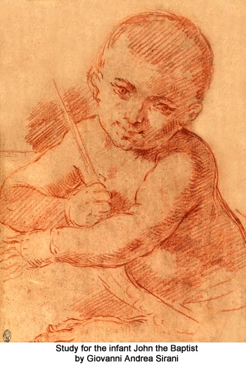 Study for the Infant John the Baptist by Giovanni Andrea Sirani