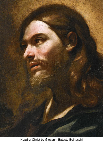 Head of Christ by Giovanni Battista Beinaschi