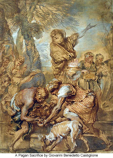 A Pagan Sacrifice by Giovanni Benedetto Castiglione