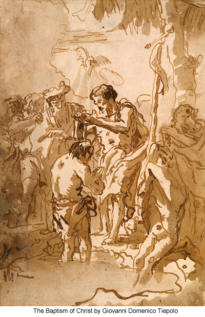 The Baptism of Christ by Giovanni Domenico Tiepolo